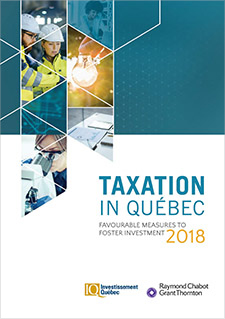 "A title that reads ""Taxation in Québec 2018"""