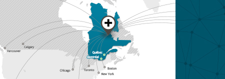 Illustration de la carte du Québec