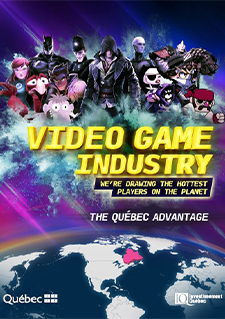 Image of video game characters and a map of the world accompanied by a text text stating