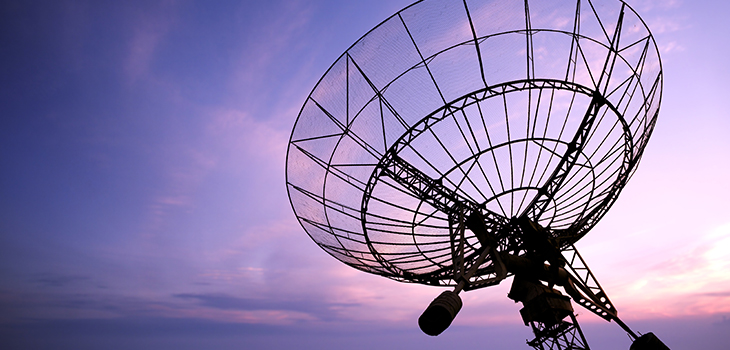 Photo d'une antenne parabolique
