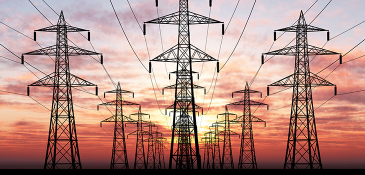 Photo of electric pylons