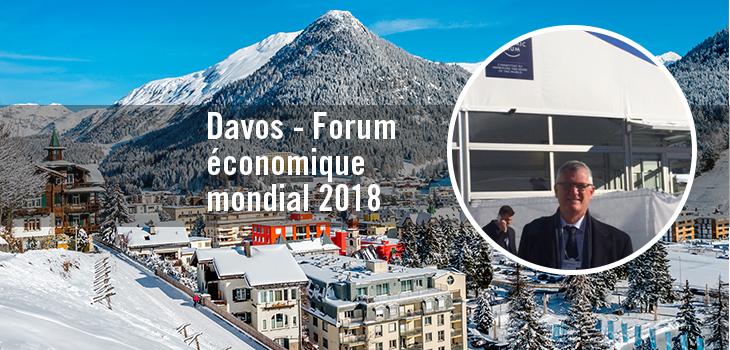 Photo de la ville de Davos avec photo de Pierre Gabriel Côté