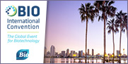 Logo de BIO International Convention, image de San Diego et texte indiquant June 19-22, 2017 San Diego , CA