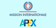 Logos de Mission internationale et de Apex