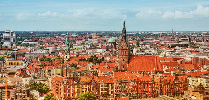 Photo de la ville d'Hanovre en Allemagne