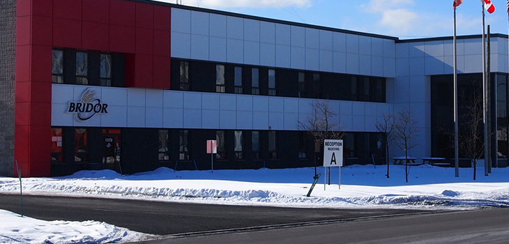Photo of the Bridor plant in Boucherville