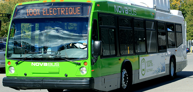 Photo of a 100% electric bus by Nova Bus
