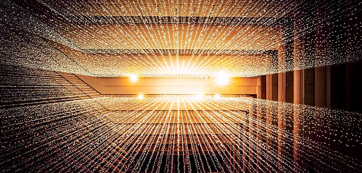 Flux de données représentant l'intelligence artificielle