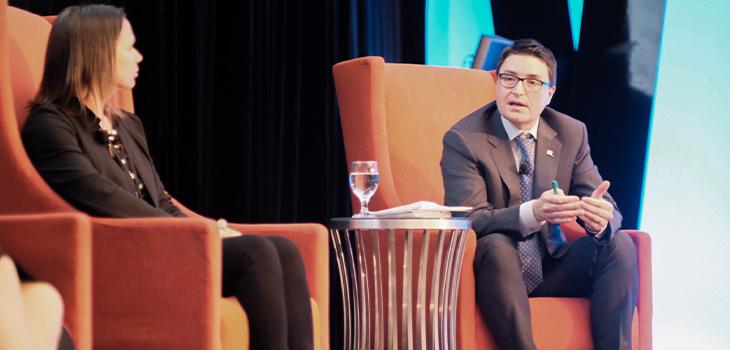Photo d'Éric Dequenne, vice-président, Affaires internationales, Investissement Québec, à la 12e Conférence annuelle de l'Alliance SEUS-CP (Southeastern United States and Canadian Provinces)