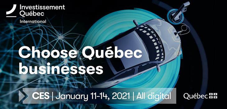 Investissement Québec's banner - CES 2021