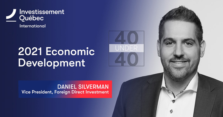 Daniel Silverman, Vice President, Foreign Direct Investment, Investissement Québec