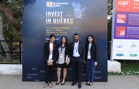 From left to right: Anindita Banerjee, Trade Advisor, Québec Government Office in Mumbai, Mitali Bandekar, Director, Business Development, Investissement Québec, Mumbai Office, Tenzing Niyogi, Director, Business Development, India, Sponsorium International and Sheryl Rodricks, Investment Assistant, Investissement Québec, Mumbai Office.