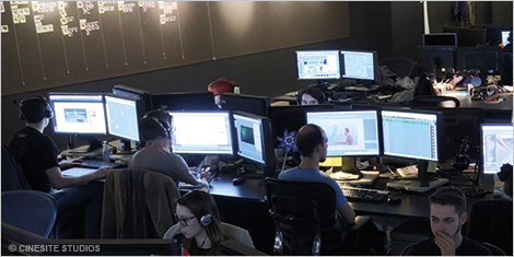 Photo of Cinesite's Montréal studio