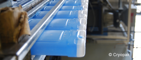 Photo of a production line of Ice Pack. Photo: Courtesy of Cryopak.