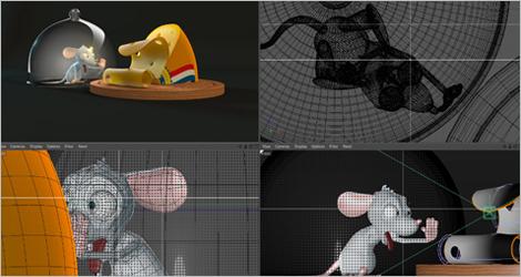 Illustration d'une modélisation d'une animation 3D