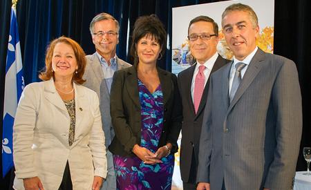 Photo prise lors de la conférence de presse de Servier Canada