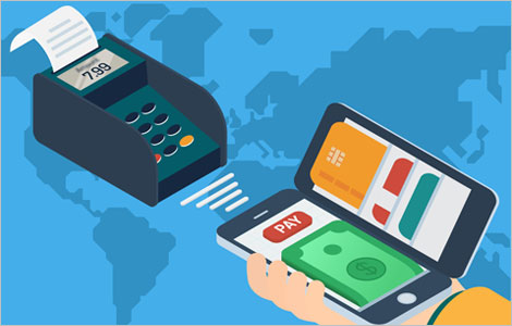 Illustration Representing an Electronic Payment Solution