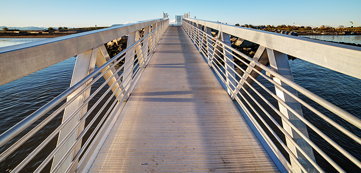 Photo of a custom aluminum bridge