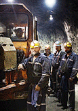 Photo of workers in a mine