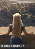 Image of a scene of Game of Thrones series, courtesy of HBO & Rodeo Fx