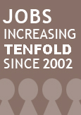 Image indicating that the number of jobs has grown tenfold since 2002