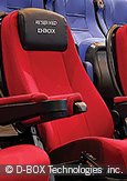 Photo: Seats manufactured by D -BOX Technologies inc.
