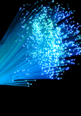 Photo of optical fibres