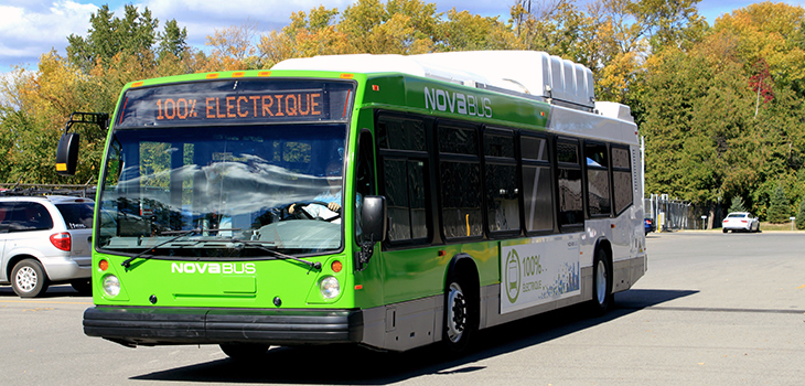 Photo d'un autobus électrique Nova Bus