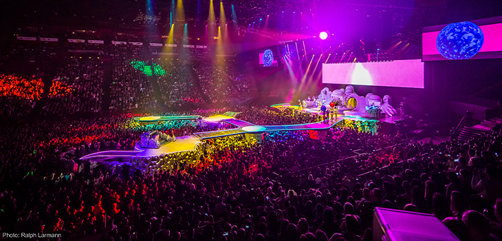 Photo of a Lady Gaga Show. Photo credit: Ralph Larmann.