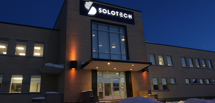 Photo du bâtiment de Solotech.