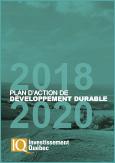 Couverture du document PDF Plan d'action de développement durable 2018-2020 d'investissement Québec