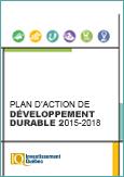 Couverture du document PDF Plan d'action de développement durable 2015-2018 d'Investissement Québec