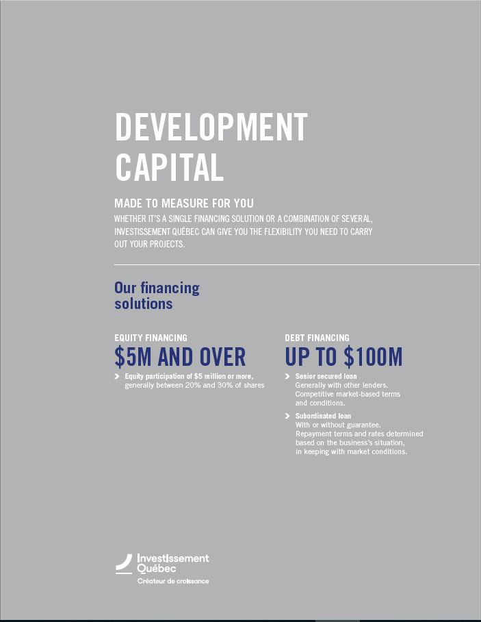 Illustration of the cover of the document Development capital