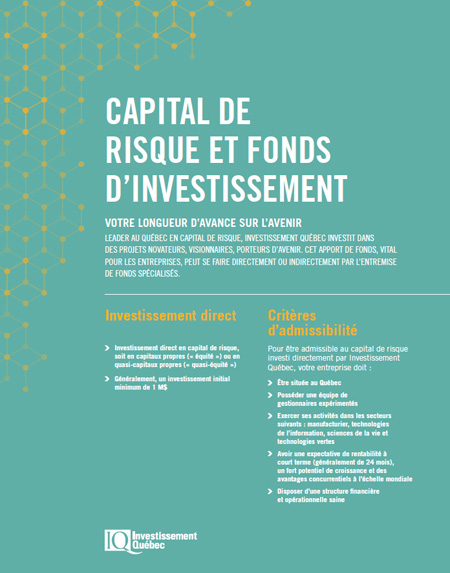 Illustration de la couverture de la publication Capital de risque et fonds d'investissement