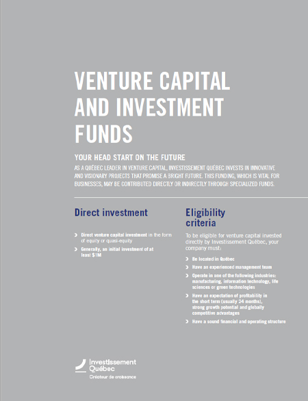 Cover of the document Venture Capital de risque and Investment Funds