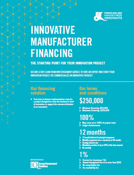 Cover of the PDF document Innovative Manufacturer Financing