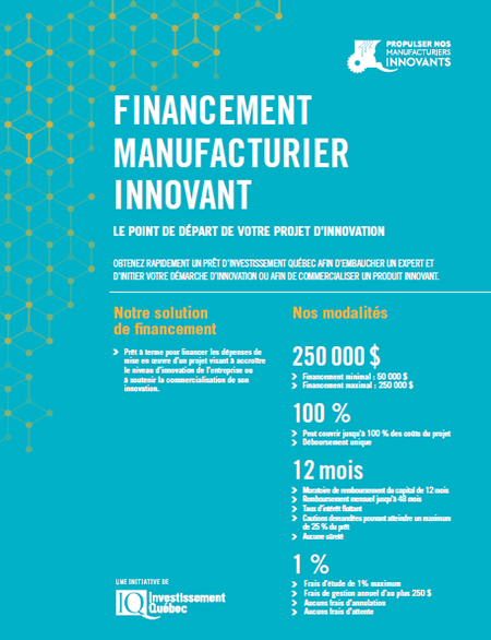 Illustration de la couverture de la publication Financement Manufacturier Innovant