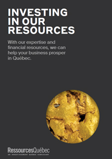 Illustration : cover of the document: Investing in our resources