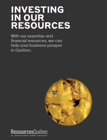 Cover of the brochure : Investing in our resources