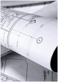 Photo of architectural blueprints