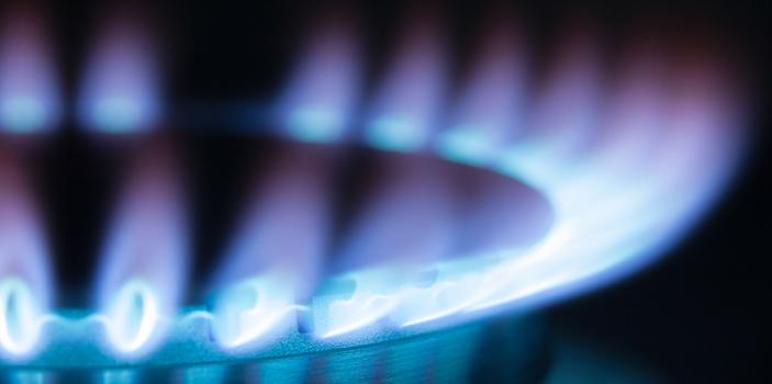 Photo d'une flammes de gaz propane