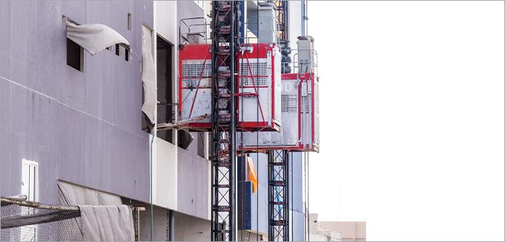 Photo d'un système de transport vertical pour personnes et matériaux