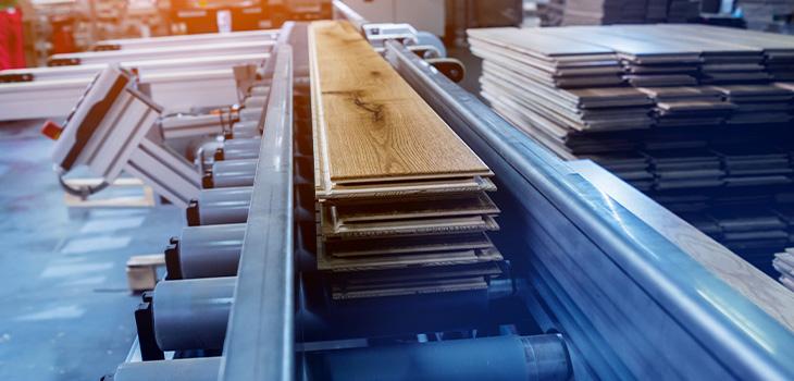 Photo concept dans une usine de fabriacation de plancher