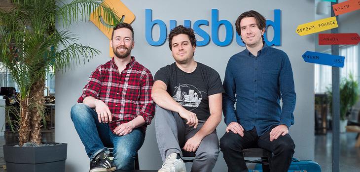 De gauche à droite sur la photo, les fondateurs Michael Gradek, Frederic Thouin et Louis-Philippe Maurice