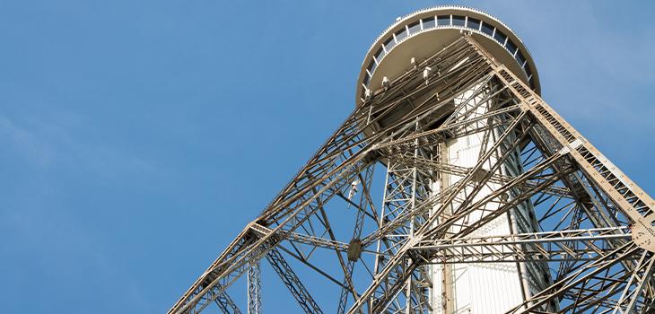Tour d'observation construite à partir d'un pylône électrique. Shawinigan.