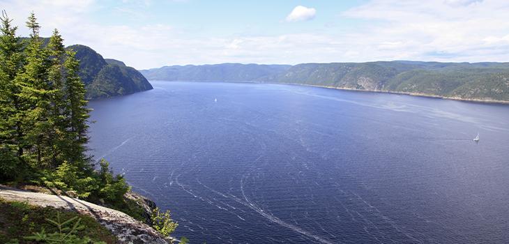 Photo du fjord du Saguenay