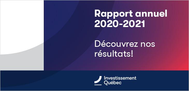 Rapport annuel 2020-2021 - Découvrez nos résultats