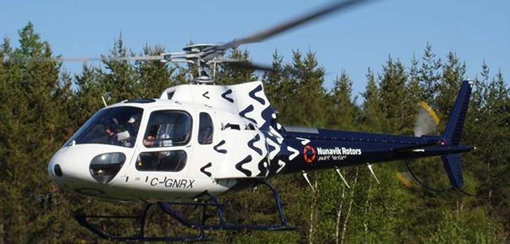 Photo d'un hélicoptère