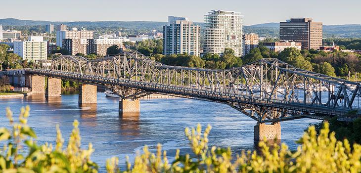 Panorama de Gatineau vu d'Ottawa