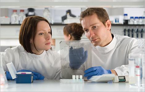 Photo de scientifiques travaillant dans un laboratoire